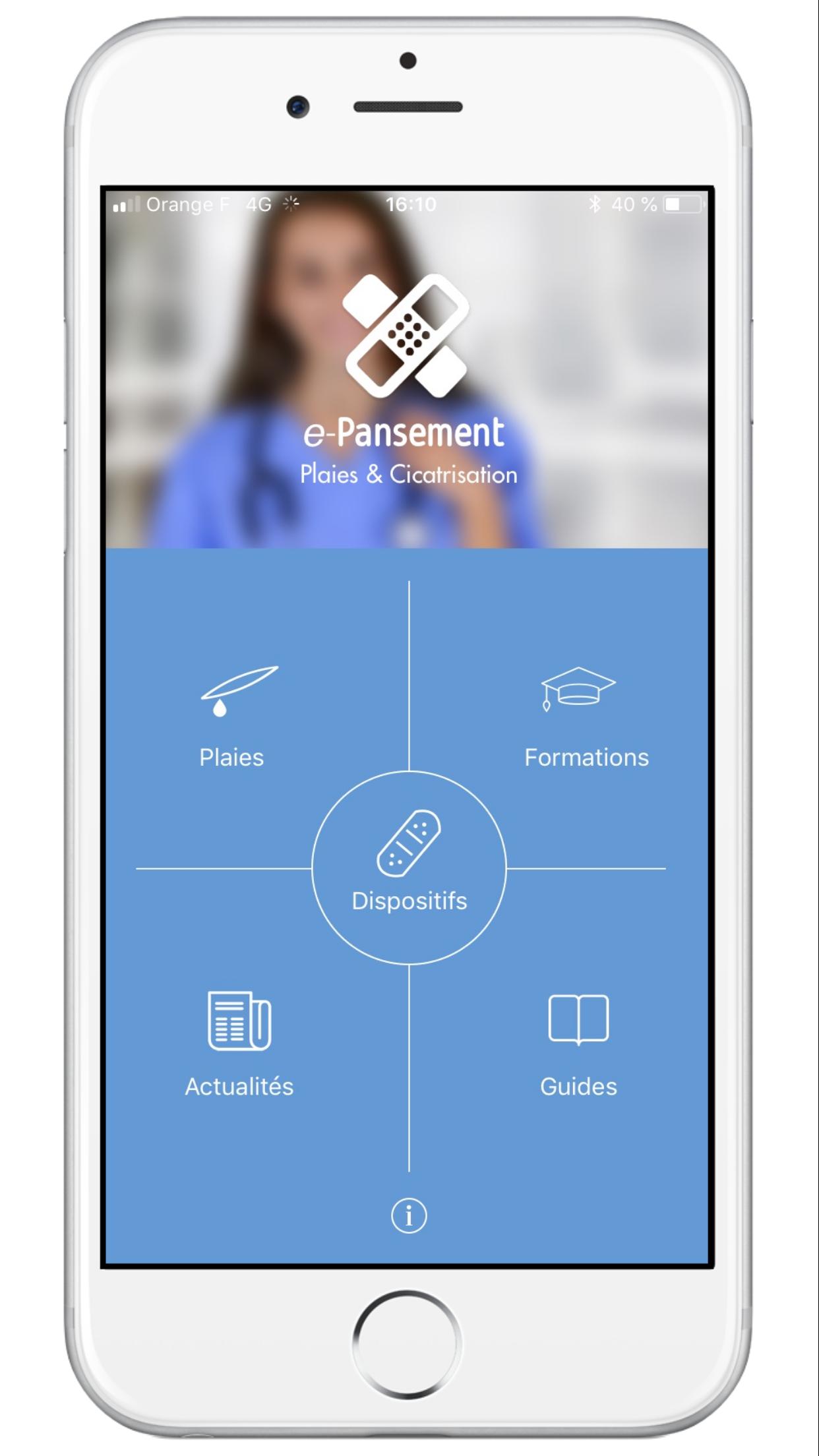 e pansement application mobile ios android plaies et cicatrisation e pansement. Black Bedroom Furniture Sets. Home Design Ideas